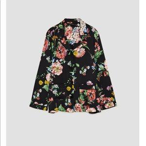 "Zara Women's ""Pajama"" Floral Button Up"